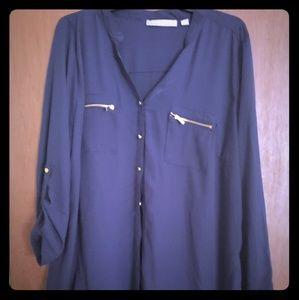 Tops - Pretty Dark Blue dress shirt.